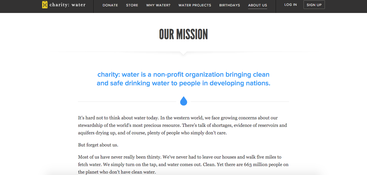 charity mission statements